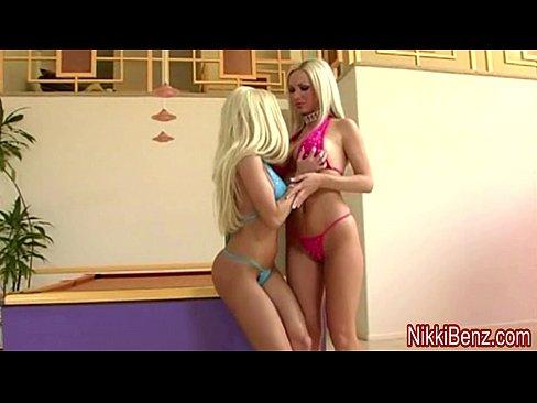 Nikki Benz & Gina Fuck a Peeping Tom in Big Tit 3some!