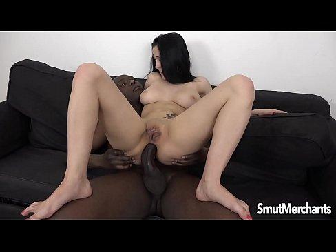 Hot brunette Nicole Love loving interracial anal