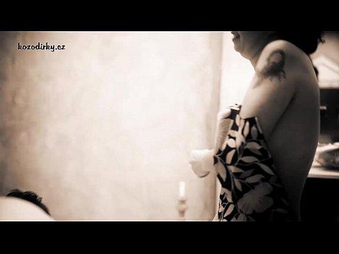 Retro porn parody with old mummy