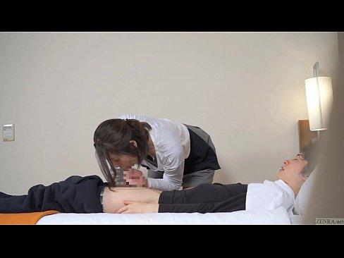 Subtitled ญี่ปุ่น ร้อนel นวด leads to โม๊กควย in HD