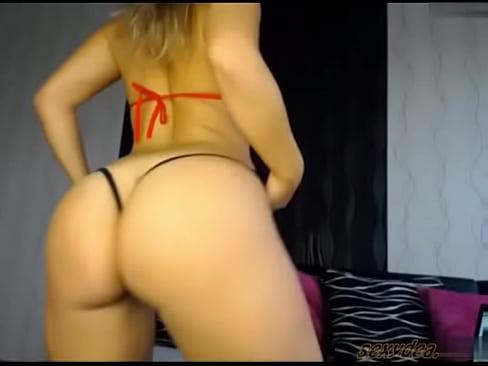 Big White Booty Twerking
