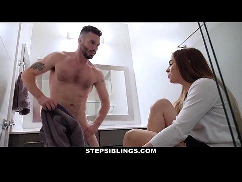 StepSiblings – Cute Stepsis Seduced by Stepbro in Bathroom
