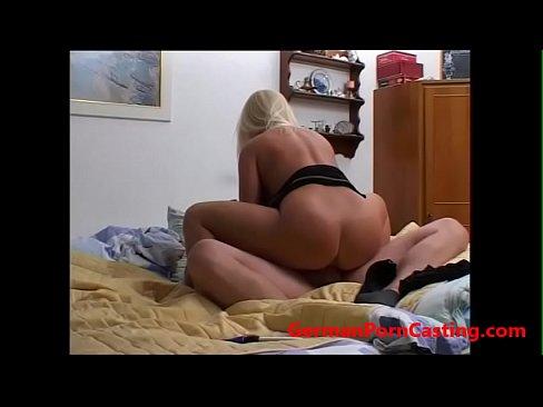 Blonde slut casting something is
