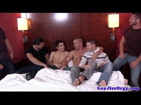 Orgy loving hunk saturated in cum