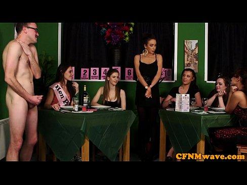 Dirty femdom CFNM reverse extreme gang bang