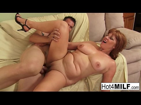 milf gets cum on her big tits