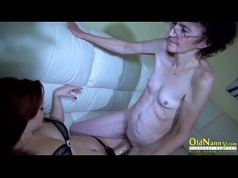 OldNannY Mature Lesbian Veronika and Teen Friend