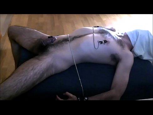 Gay man gets his nipples clamped