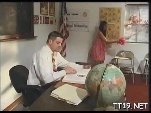 Oral sex on desk