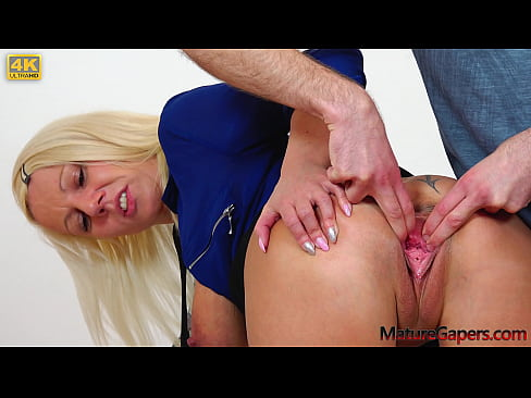 Hot blonde Luci Angel pussy gaping