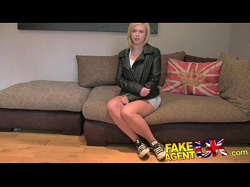 Fakeagentuk tall blonde milf craves hard cock in fake