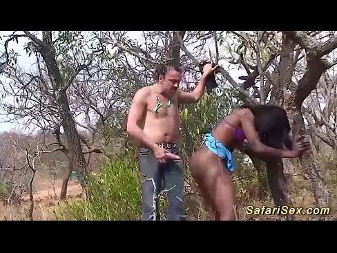 Naked butt ebony