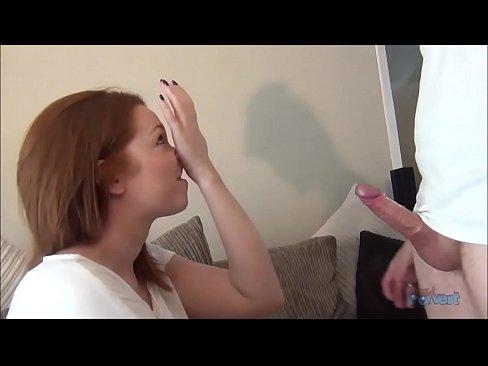 Candi redhead blowjob