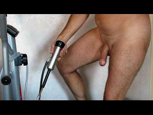 Men masturbate with vacuum