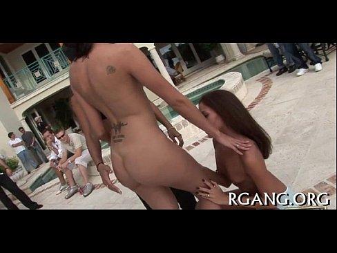 Nice hard gangbang act