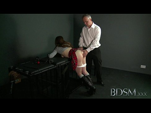 Brandi with bdsm butt plug don't know