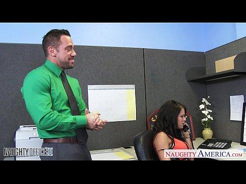 Chesty office babe Peta Jensen fucking