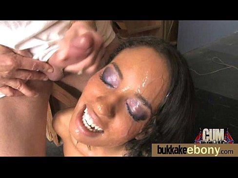 Nice ebony Hot gang bang and CUM FEEDING 1