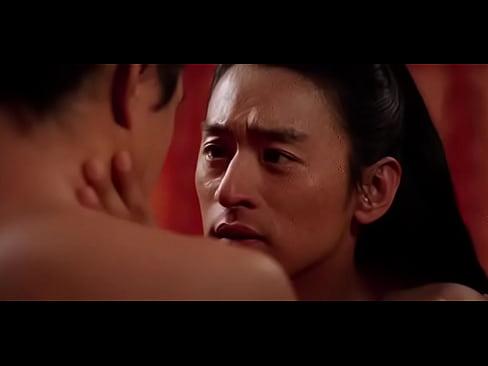 Erotic gay kiss