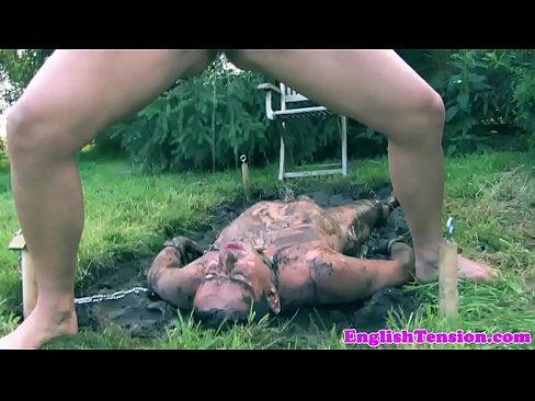 Outside femdom bondage