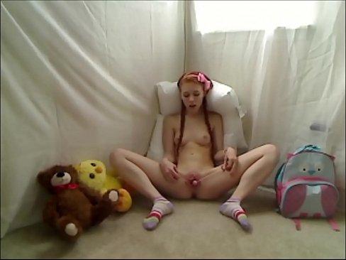 Little redhead teen masturbation on webcam 18 y.o.