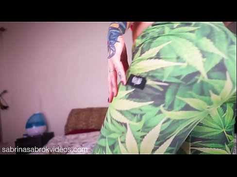Sabrina Sabrok Squeezing Huge Boobs And Bigger Butt