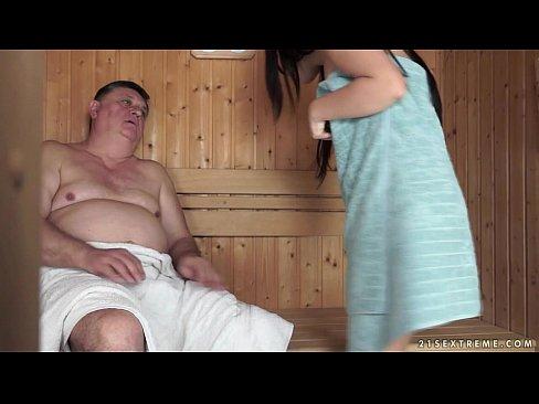 Horny Grandpa Fucks The Tiny Bella Beretta