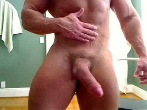 Sexy stud wanking big cock