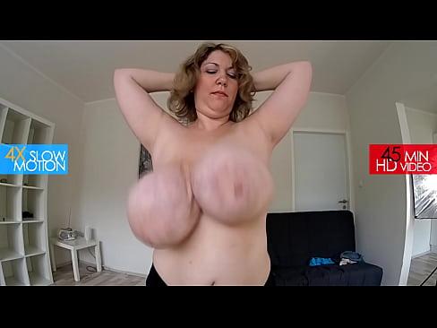 huge tits running
