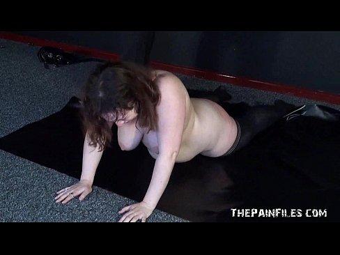 Bbw slave spanked