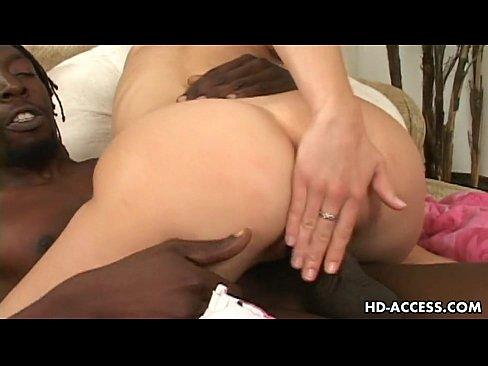 Big black cock interracial with hot blonde sex!