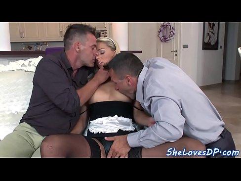 Tasty threeway ass banging