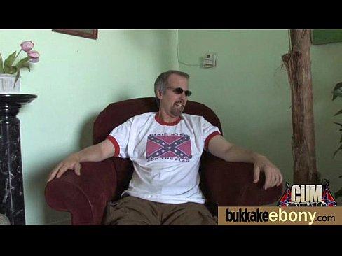 Sizzling nice ebony bukkake cumshots extreme gangbang 7