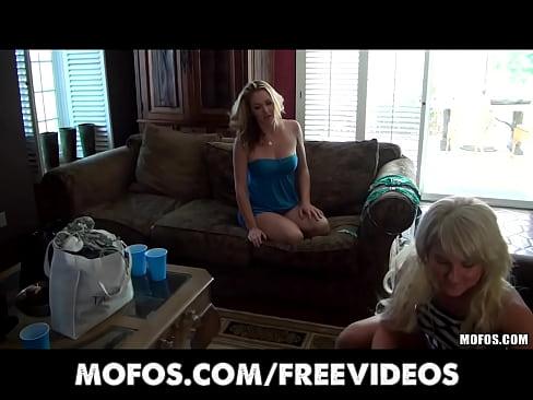Three bored girlfriends start an intense orgy