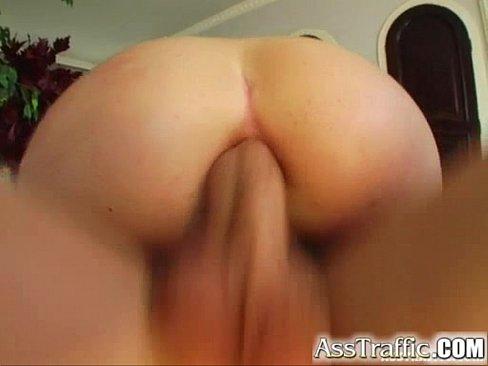 Ass Traffic Horny guy butt bangs Ann who loves swallowing his cum