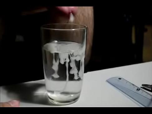 minha gozada no copo