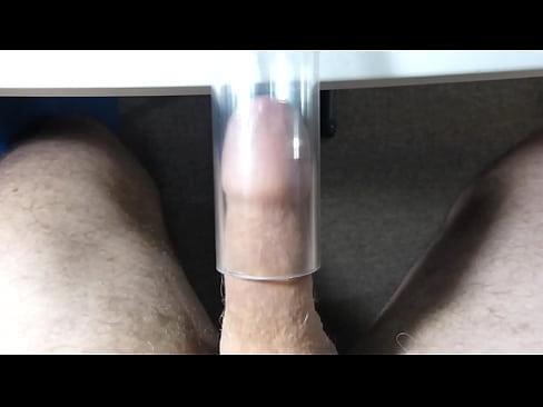 Vacuum cleaner blowjob