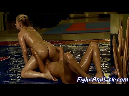 lesbian sex wrestle