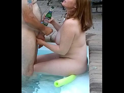Hot 46 yr wife in pool