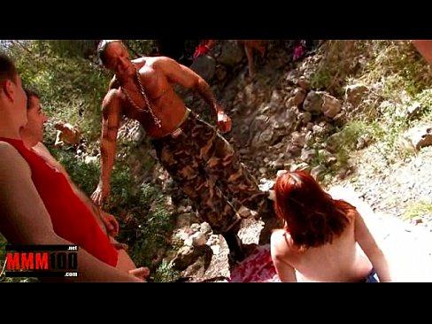 Tania Teen Gang Bang In The Woods