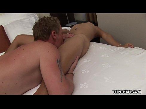 small titty thai beauty fucking the white boys cock