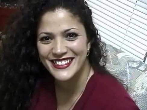 Latina babe sucking and fucking cock