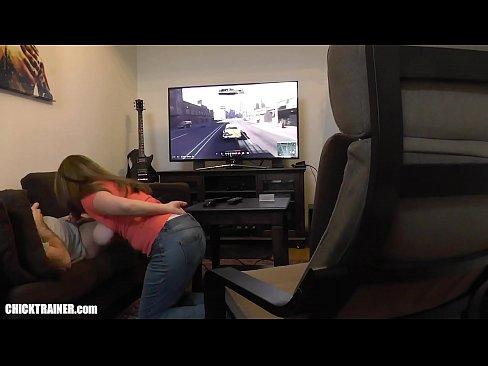 Woman using dildo video clip