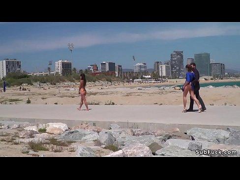bare spanish slave walked on streets
