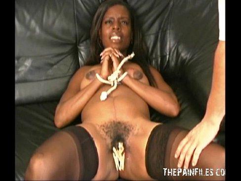 black girl torture Ebony bondage breast