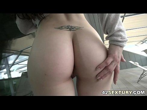 Monika Wild has a big gaping asshole