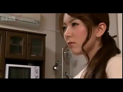 bored stepmom Yui Hatano  gives stepson a footjob