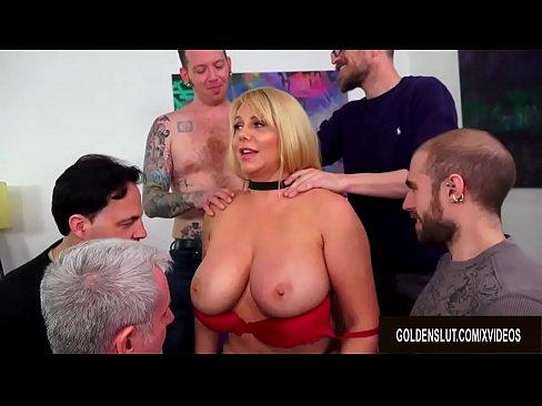 Big Tit Mature Sucking Cock
