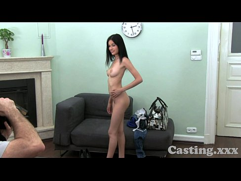Amateur Casting HD Raven Hair Gets Spunk In The Eye