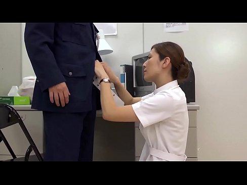 性交も看護の一環な病院に勤める美人ナースと警備員のセックス